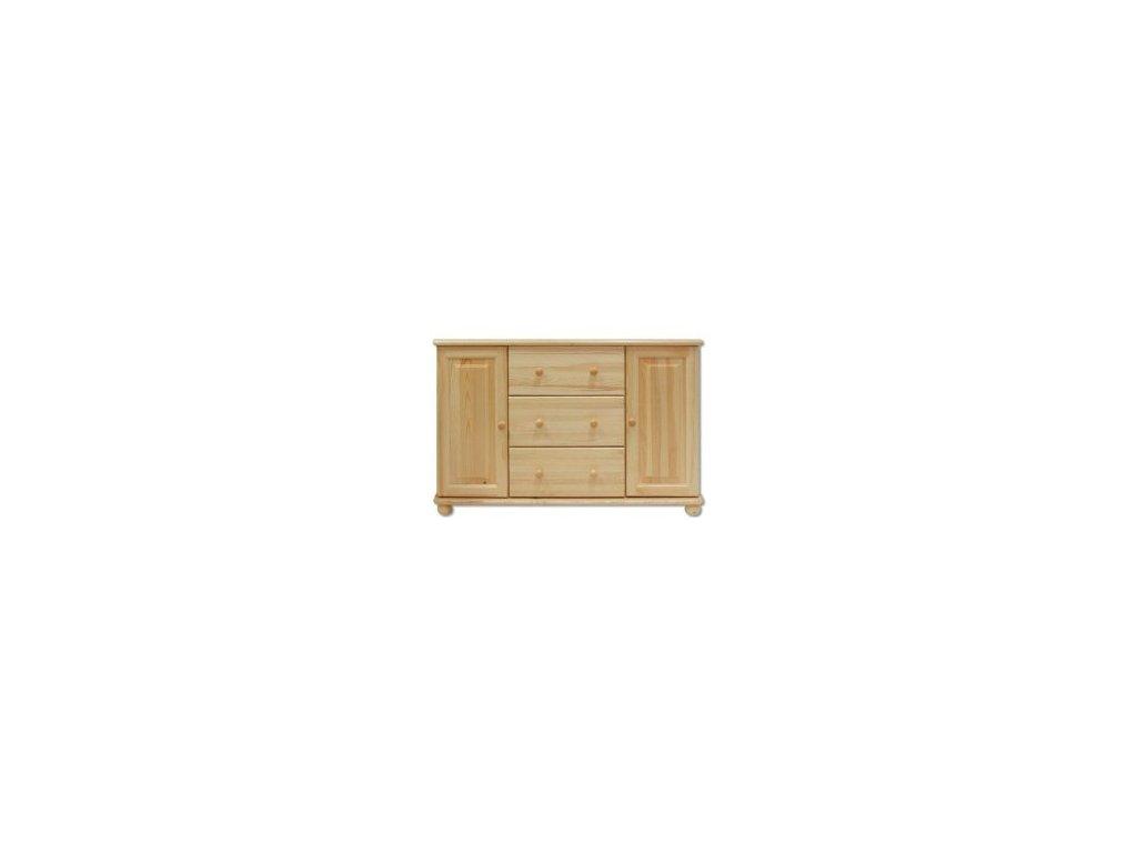 Masivní dřevěná komoda KIK 121 borovice masiv - 118x78x47 cm