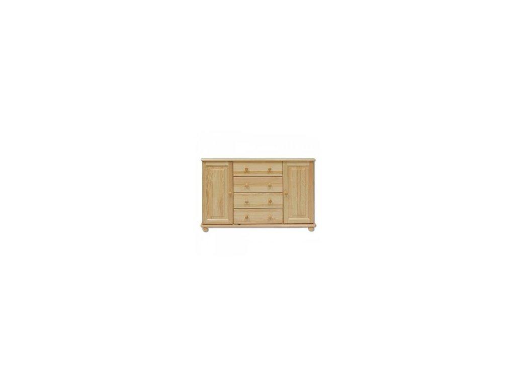 Masivní dřevěná kombinovaná komoda KIK 122 borovice masiv 118x78x47 cm