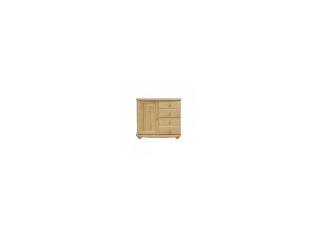 Dřevěná komoda KIK 140 borovice masiv více odstínů