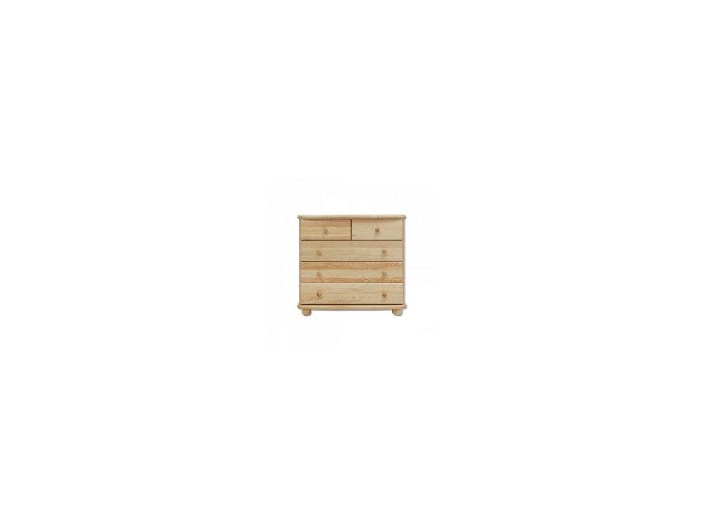 Dřevěná komoda 3+2 šuplíky KIK 149 borovice masív -více odstínů