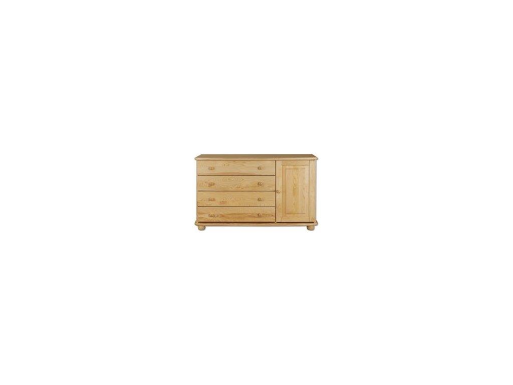 Dřevěná kombinovaná komoda  KIK 148 borovice masiv
