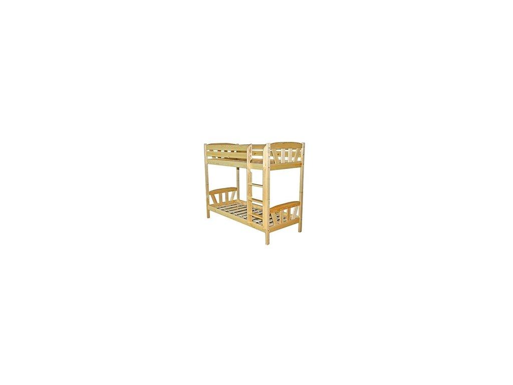 Patrová postel Martínek  80x180 cm borovice masív