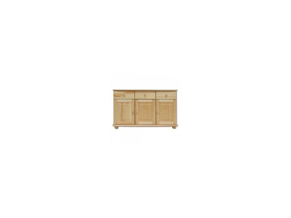 Dřevěná komoda KIK 138 borovice masív