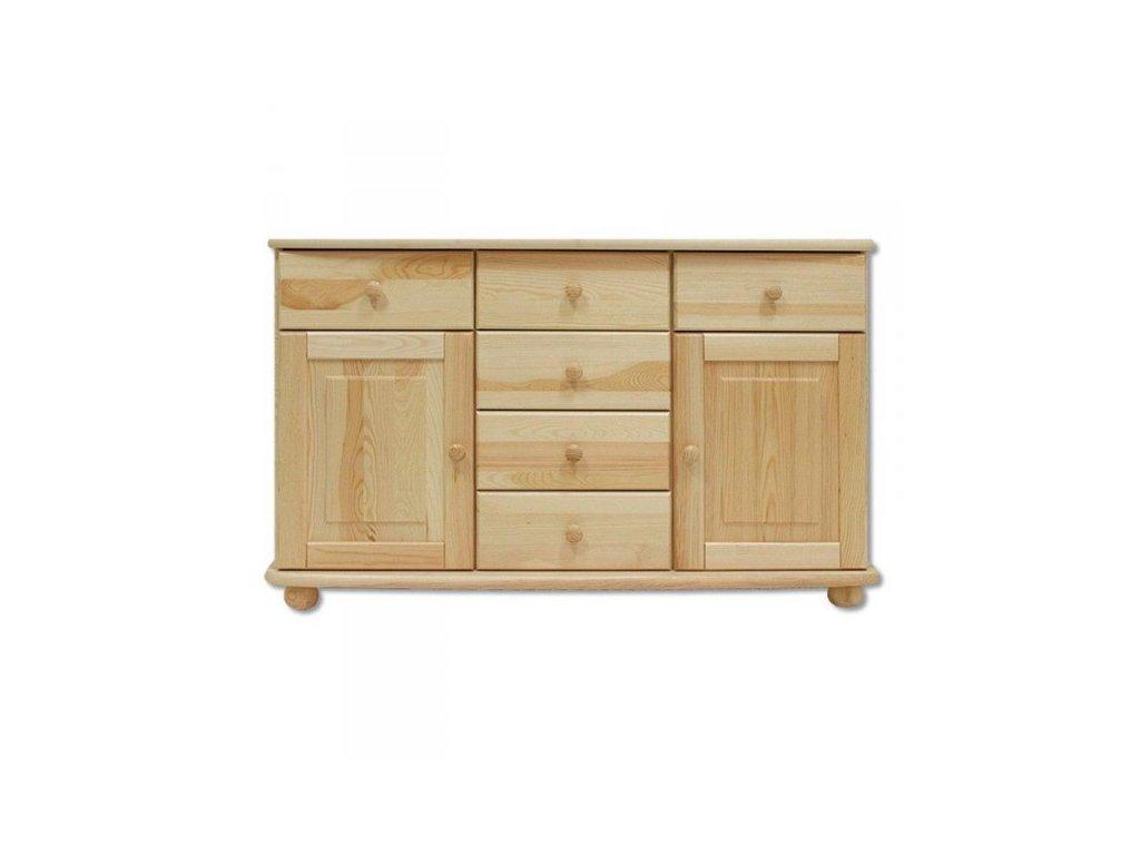 Masivní dřevěná komoda KIK 136 - 125x75x42 cm