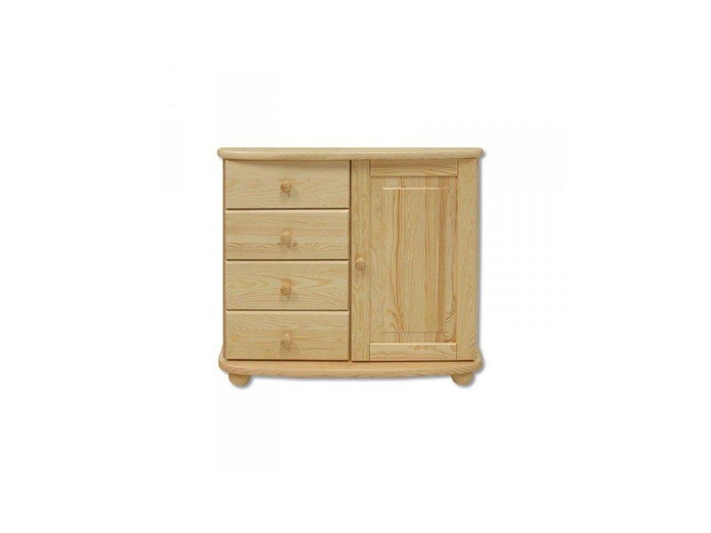 Dřevěná komoda KIK 137 borovice masív