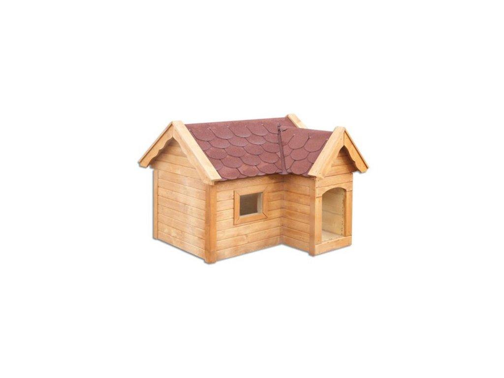 Bouda pro psa dřevěná z borovicového dřeva MO140