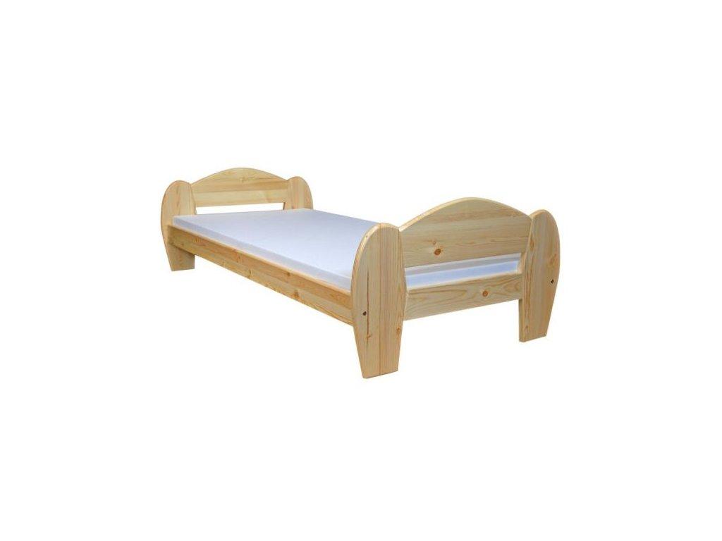 Dřevěná masivní postel Krystián  120x200 cm borovice masiv