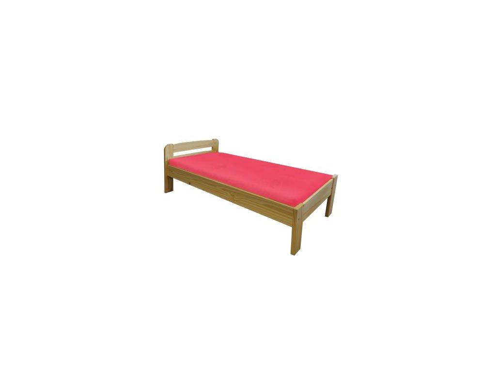 Dřevená postel Max 2 borovice masiv 90x200 cm
