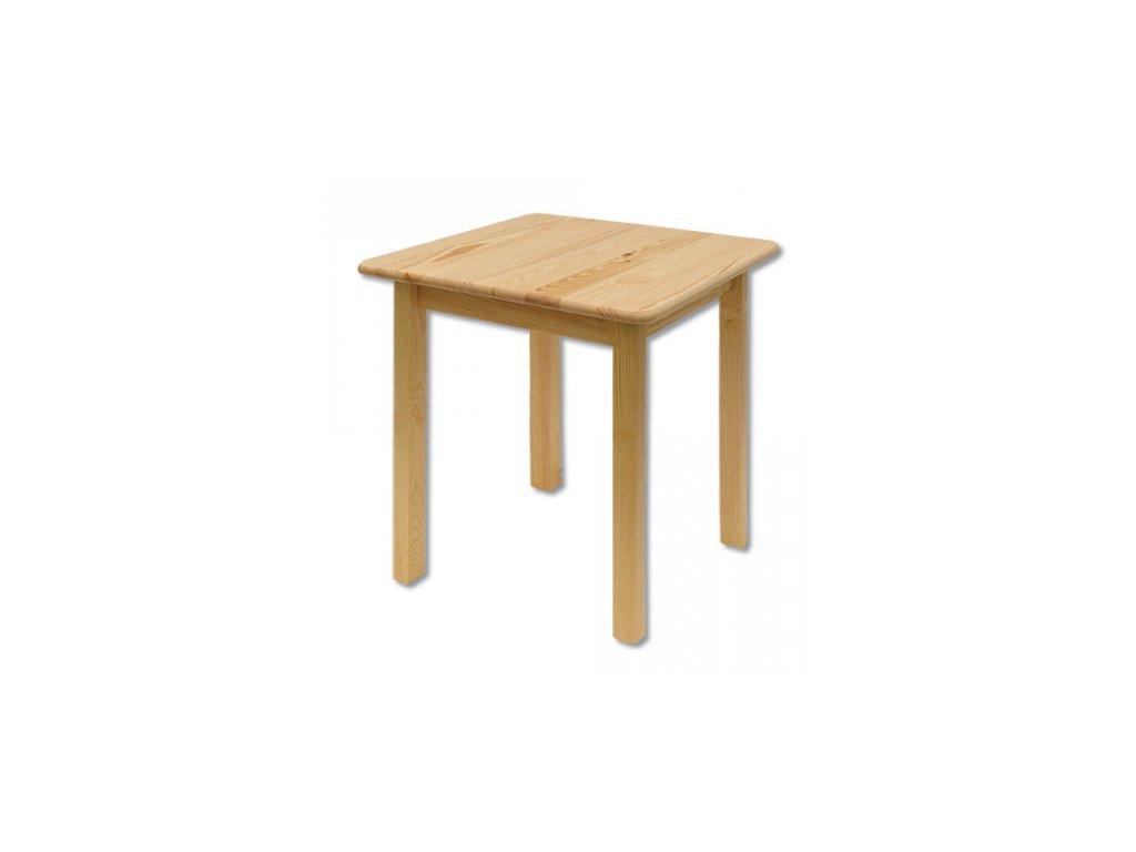 Dřevěný jídelní stůl borovice masiv ST108 75x75x75