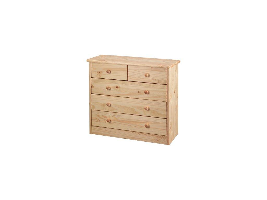 Komoda dřevěná 3+2 - SKLADEM