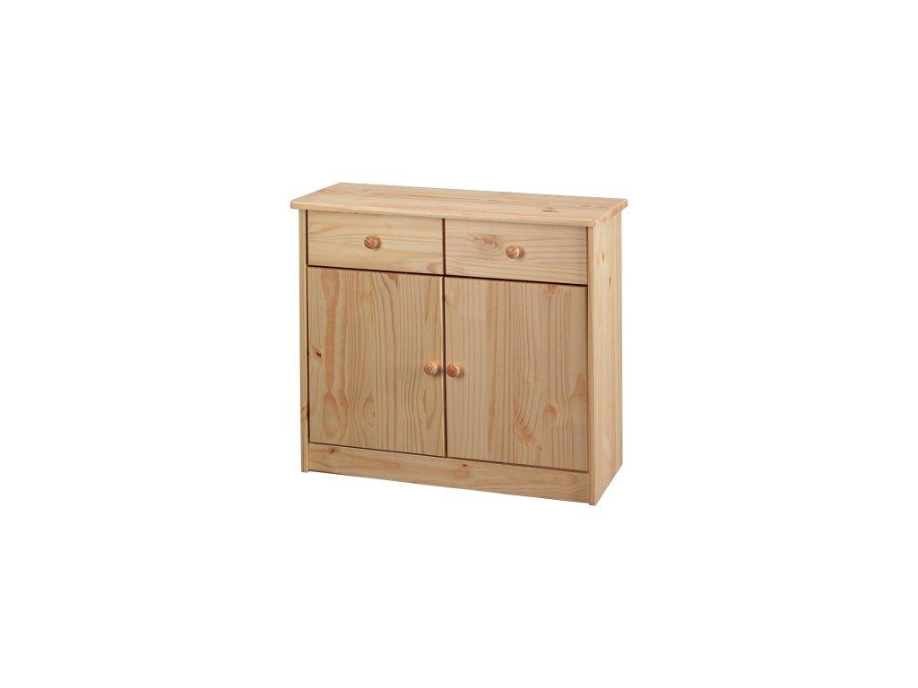 Komoda  dřevěná 2+2 - SKLADEM