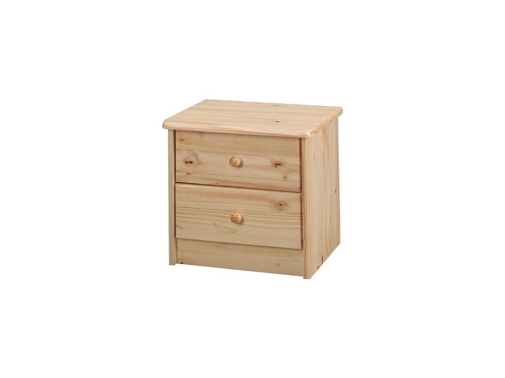 Noční stolek - 2 zásuvky -SKLADEM