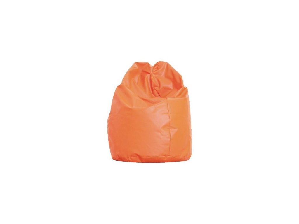 Velký sedací vak  - oranžový  /nosnost 90 kg