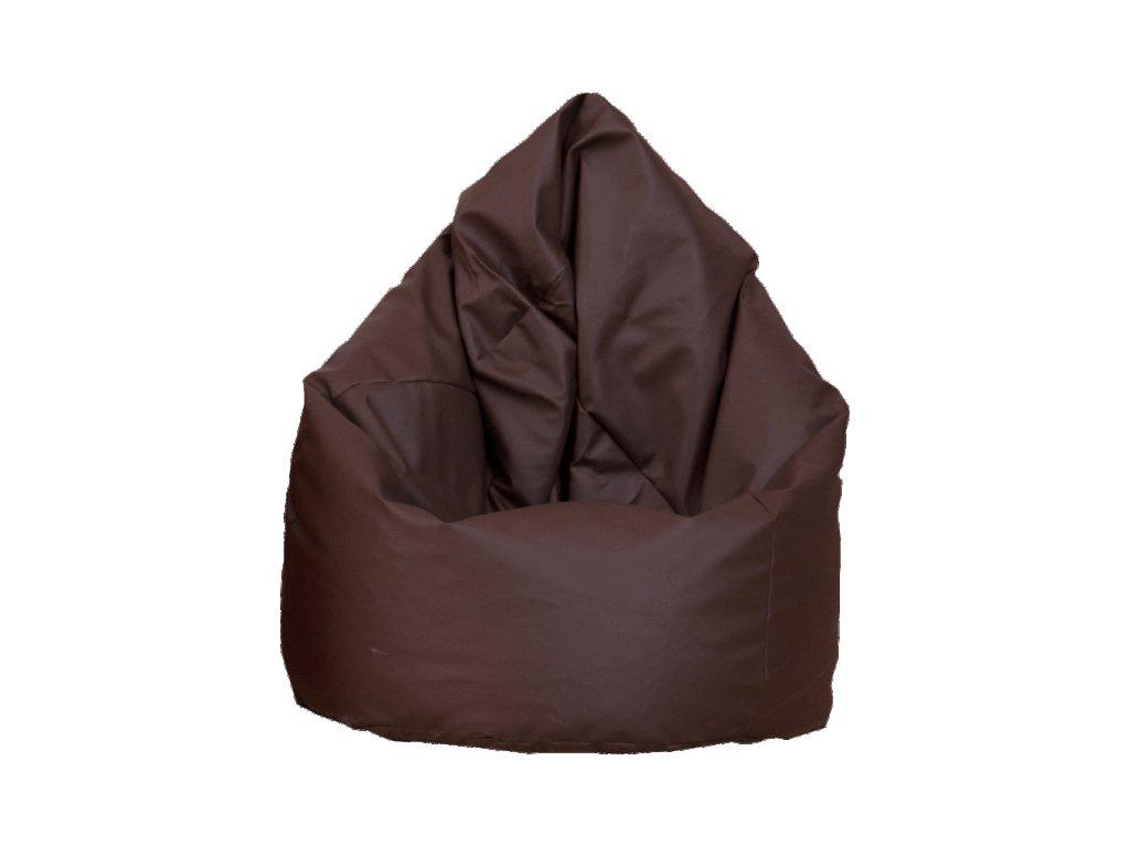 Velký sedací vak - čokoládový / nosnost 90 kg
