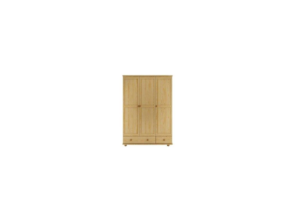 Dřevěná masivní šatní skřín borovice masiv KIK121