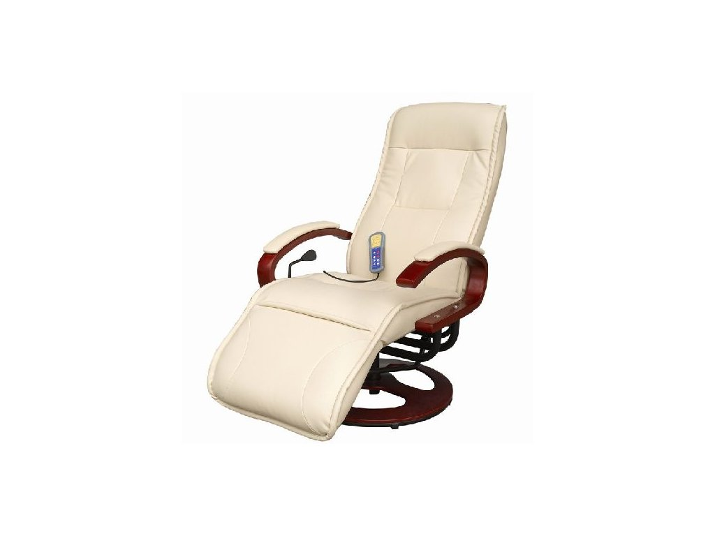 Luxusní el. masážní křeslo s  podnožkou/nosnost do 150kg
