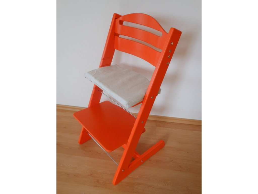 Dětská Baby rostoucí židle oranžová