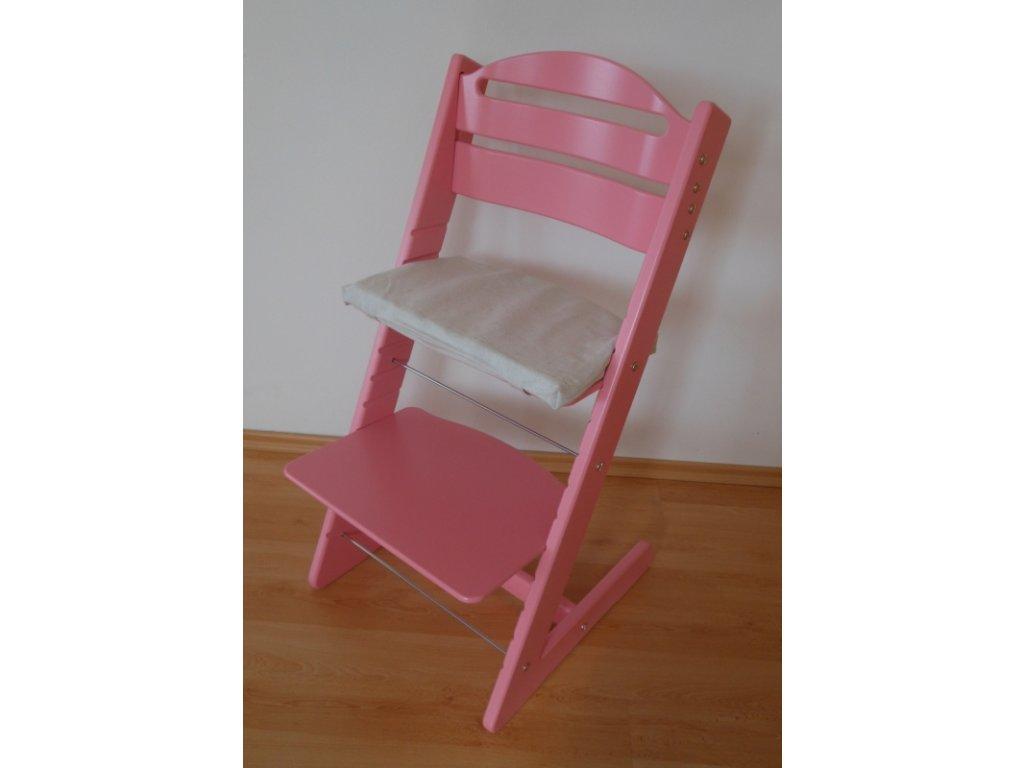 Dětská Baby rostoucí židle růžová