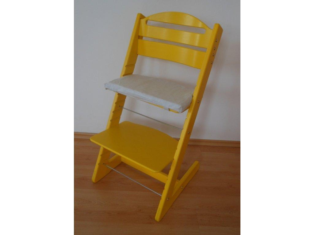 Dětská Baby rostoucí židle žlutá