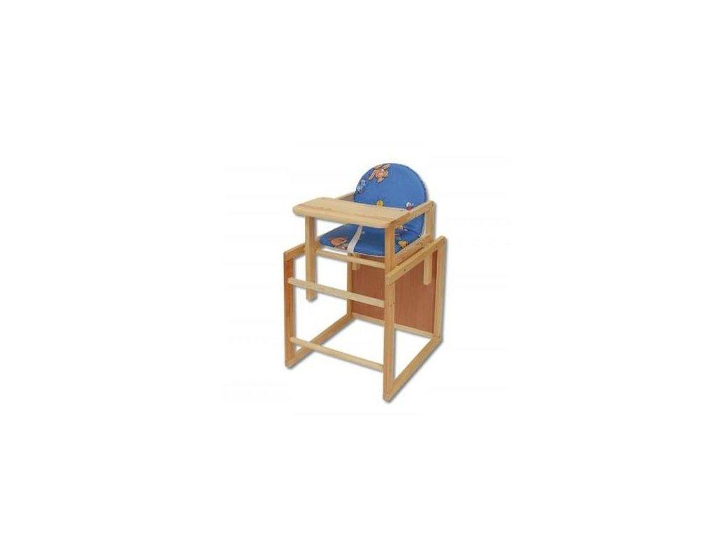 Dětská jídelní židlička se stolečkem H220 masív