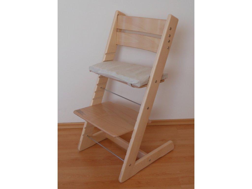 Dětská rostoucí židle - přírodní provedení