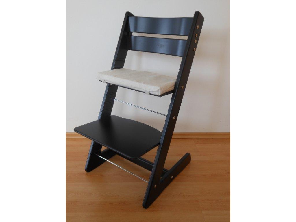 Dětská rostoucí židle -černá
