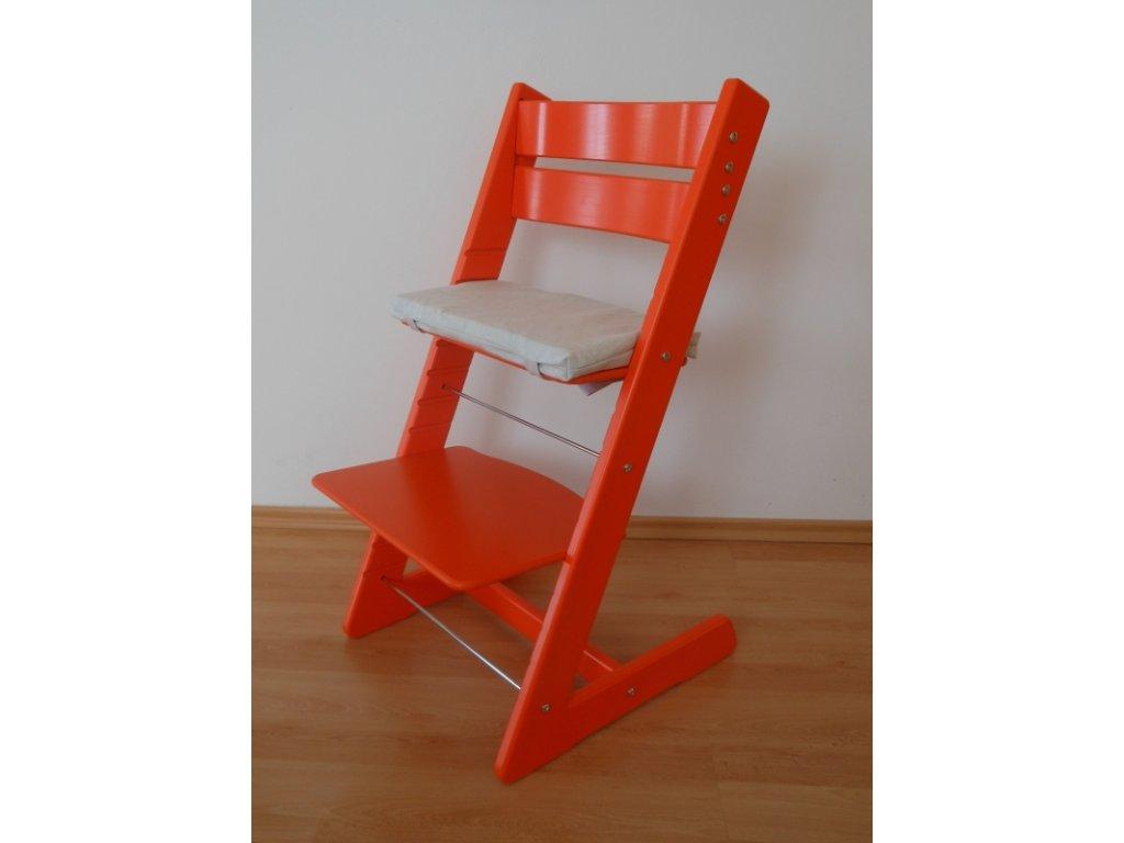 Dětská rostoucí židle -oranžová