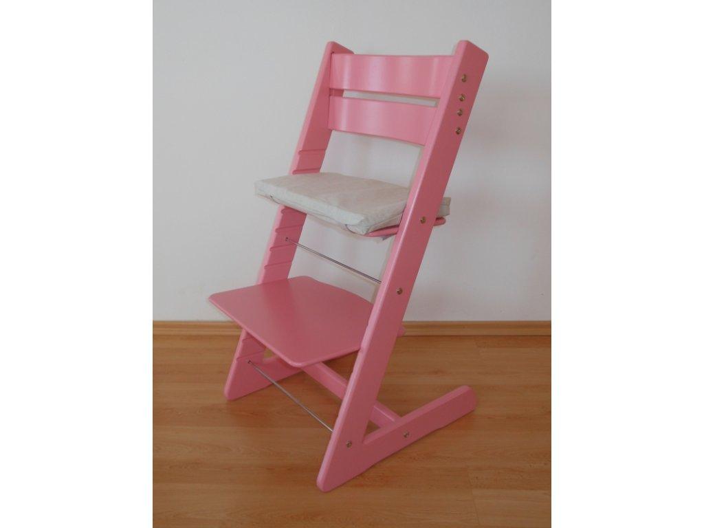 Dětská rostoucí židle -růžová