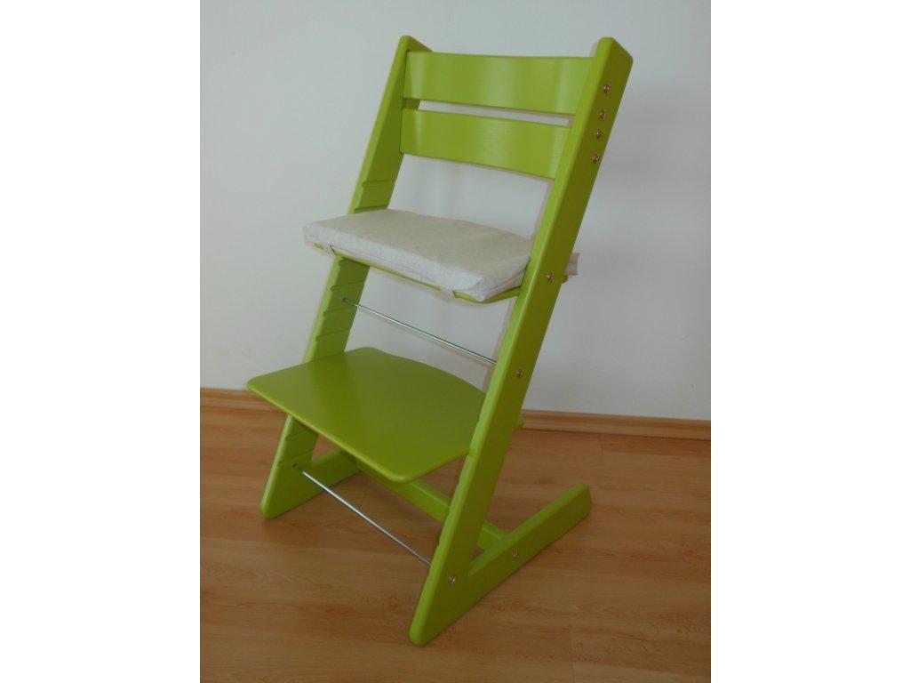 Dětská rostoucí židle -světle zelená