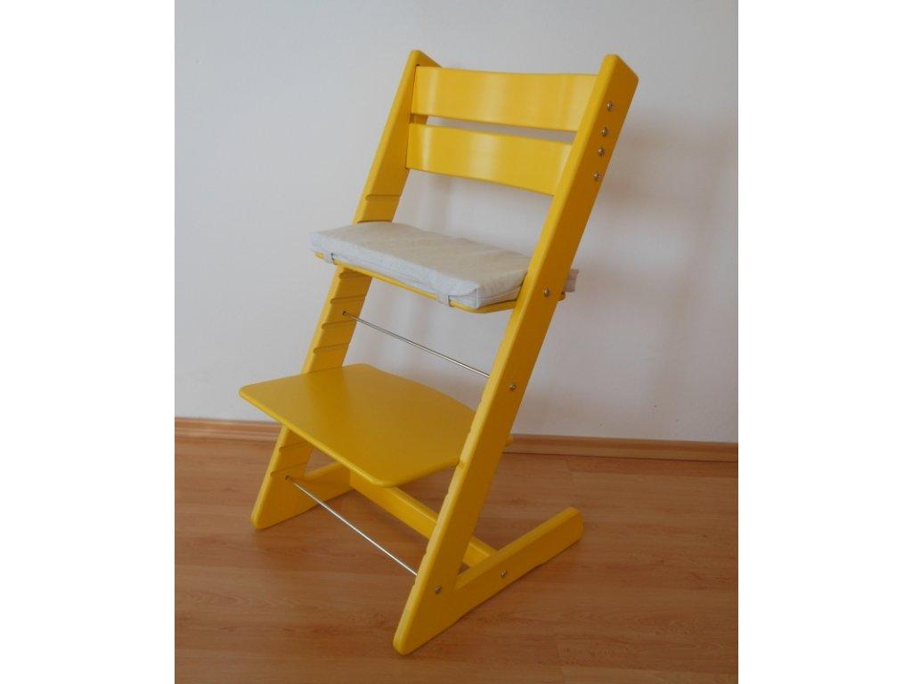 Dětská rostoucí židle -žlutá