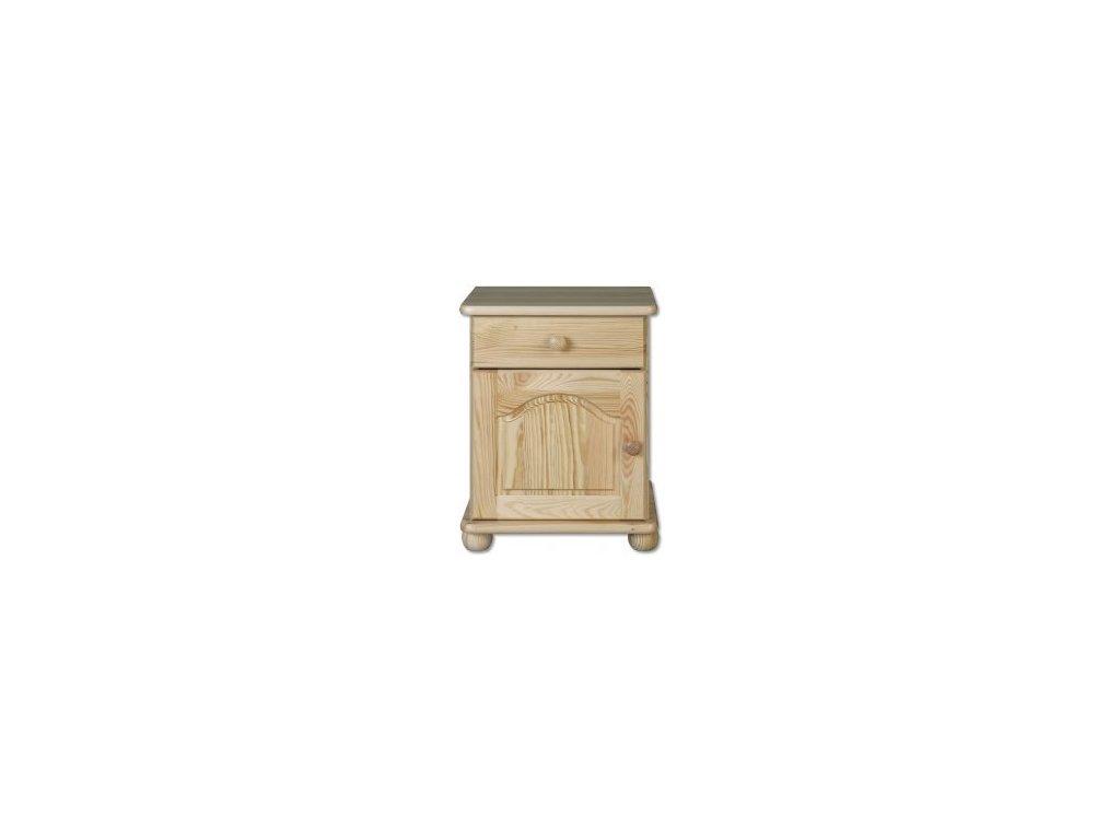 Noční stolek KIK 104 borovice masív -tvarovaná dvířka