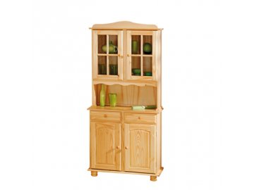 Dřevěná vitrína -kredenc Alikante borovice masiv