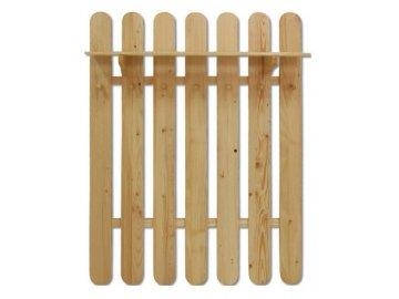 Dřevěný věšák  s policí  KIK 102 borovice masiv