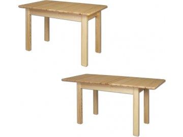 Rozložitelný dřevěný jídelní stůl z masivu KIK101 120(155)x75x80 cm