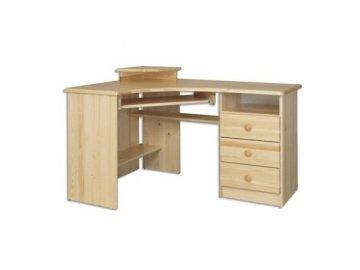 Rohový psací stůl KIK  107 borovice masív