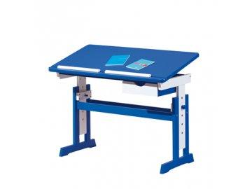 Dětský rostoucí psací stůl Paco  modro/bílý