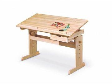 Rostoucí psací stůl Julia borovice masiv
