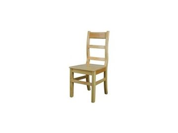 Bytelná dřevěná jídelní židle KIK 114 borovice masiv