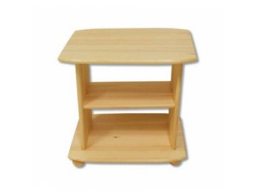 Dřevěný televizní stolek z borovice masiv KIK 110