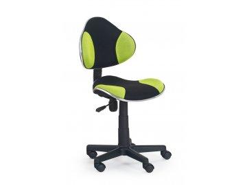 Židle QZY-G2 černo-zelená - SKLADEM
