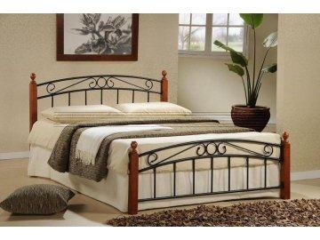 Kovová postel Dorka 160x200 cm třešeň -SKLADEM