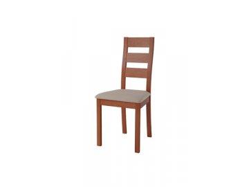BC-2603 TR2 židle masiv buk, barva třešeň, potah světlý