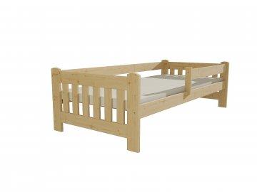 Dřevěná postel DP 022 borovice masiv 80 x 180 cm přírodní