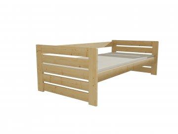 Dřevěná postel DP 030 borovice masiv 90 x 200 cm přírodní