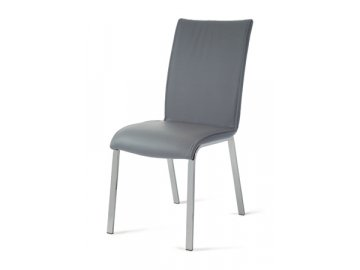 HC-078 GREY jídelní židle chrom / koženka šedá