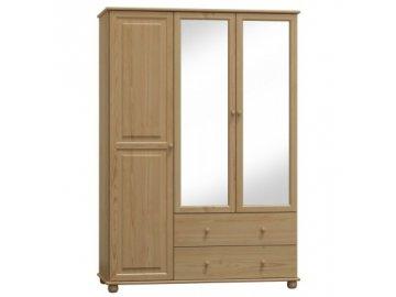Šatní skříň z borovice Clasik 77  šířka 120 cm