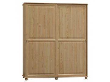 Šatní skříň z borovice s posuvnými dveřmi  Clasik 82  šířka 120 cm