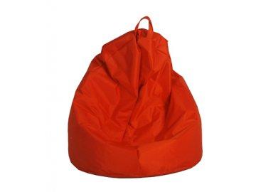 Velký sedací vak Jumbo - červený  (90 x 90 x 143 cm )