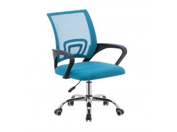 Kancelářská židle, tyrkysová/černá/chrom, DEX 2 NEW
