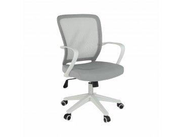 Kancelářské křeslo, šedá/bílá, GLAM
